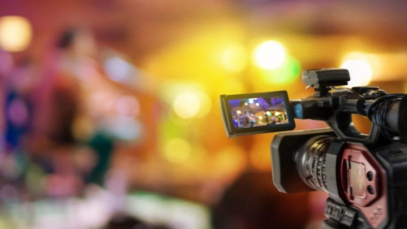 video camera providing live event coverage
