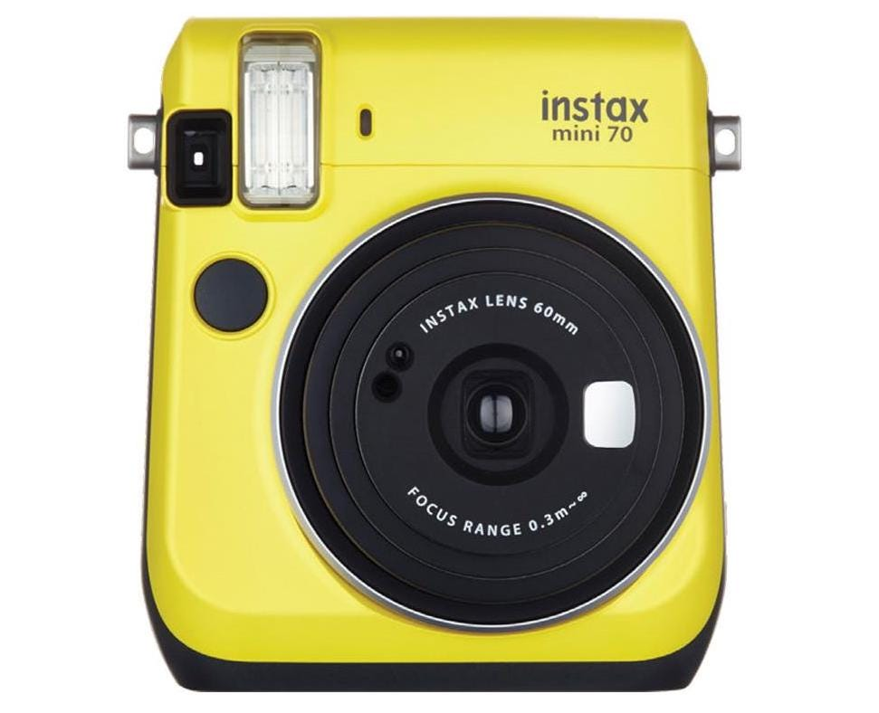Fujifilm instax mini 70 Instant Film Camera, Canary Yellow
