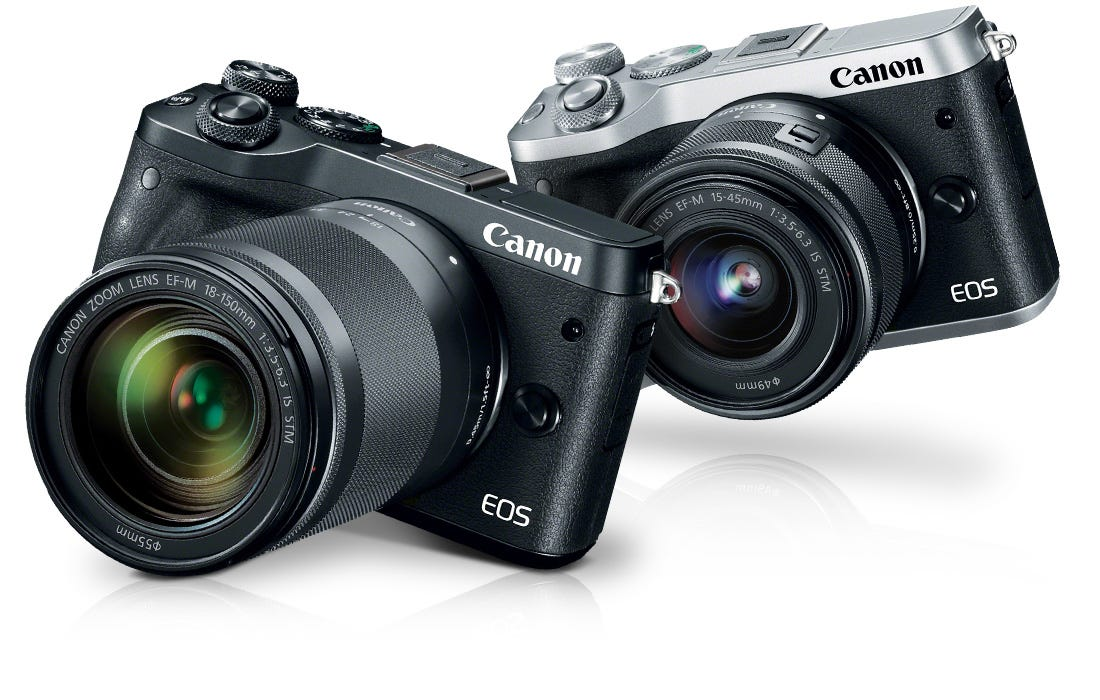 Canon EOS M6 Camera in Black and Silver