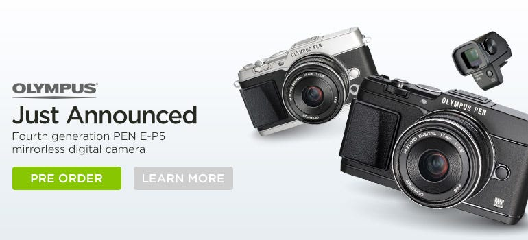 Olympus Just Announced Fourth generation PEN E-P5 mirrorless digital camera