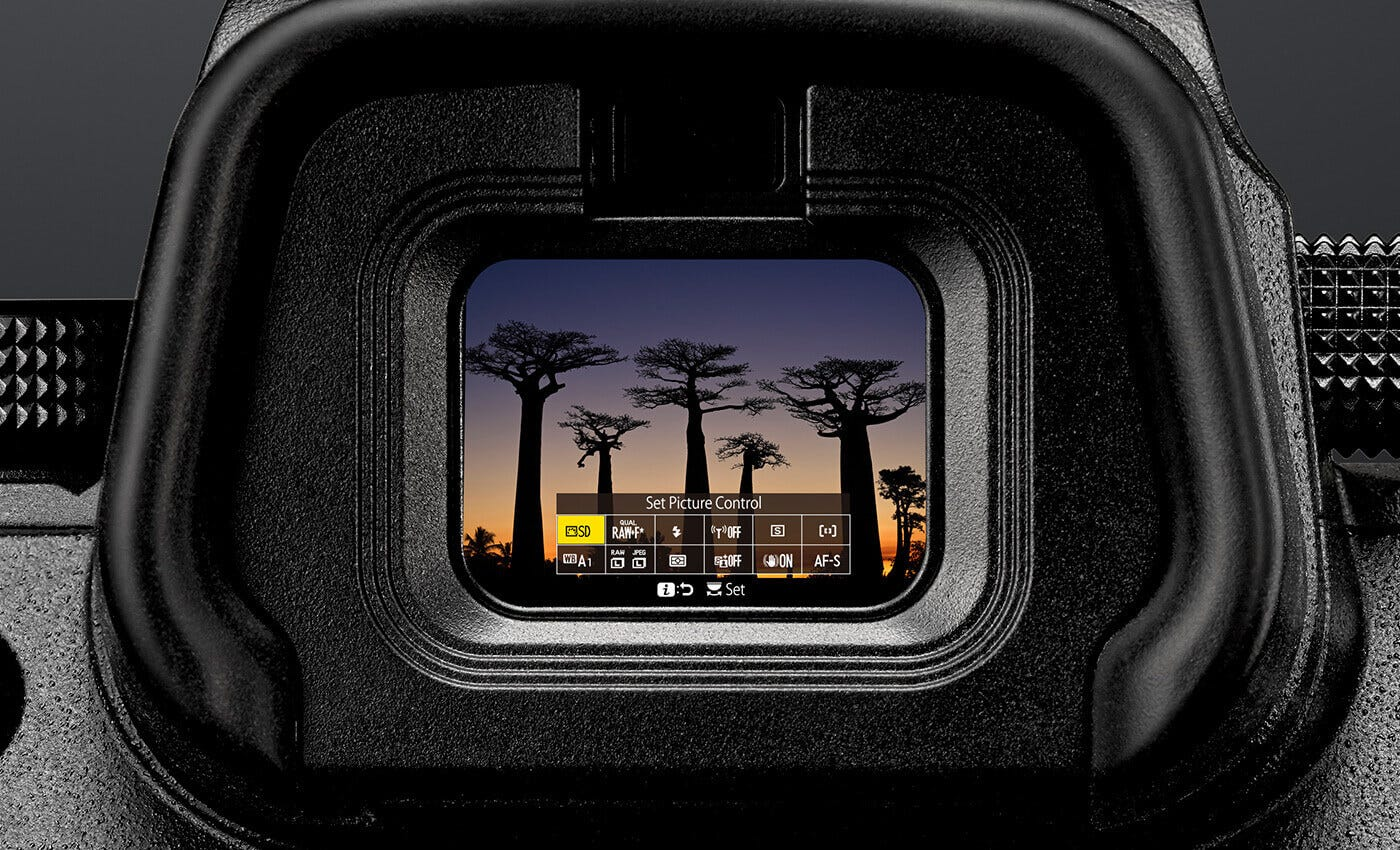 Image result for z6 viewfinder