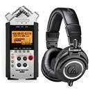 Audio-Technica Headphones + Zoom Recorder