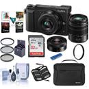 Panasonic DMC-GX85 Camera w/12-32 & 45-150 Lenses + Accessories Kit