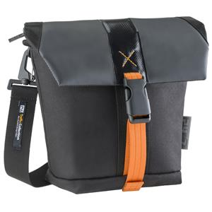 24/7 Traffic Collection DSLR Medium Holster Camera Bag with Adjustable/ Removable Strap & Built-In Weather Cover