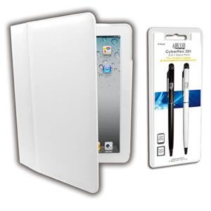 Adesso White Designer Case and 2-in-1 Stylus Pens ACS-120FW