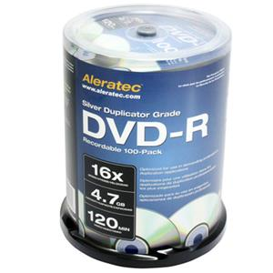 Aleratec Silver Duplicator Grade 16x DVD-R Recordable 100-Pack 230118