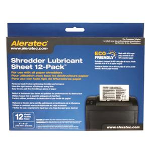 Aleratec Shredder Lubricant Sheet, 12-Pack: Picture 1 regular