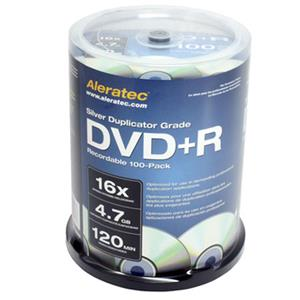 Aleratec Silver Duplicator Grade 16x DVD+R Recordable 100-Pack 300118