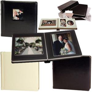 Flora Elite Pro Bound Album, 20-8x8in, Pearl/Gold Ivory: Picture 1 regular