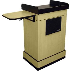 AmpliVox SW3230 Lectern with Headset Mic, Maple: Picture 1 regular