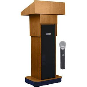 AmpliVox SW505A Wireless Executive Adjustable Height Sound Column Lectern SW505A-MO-HH