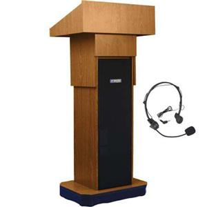 AmpliVox SW505A Wireless Executive Adjustable Height Sound Column Lectern SW505A-MO-HS
