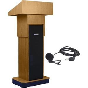 AmpliVox SW505A Wireless Executive Adjustable Height Sound Column Lectern SW505A-OK-L
