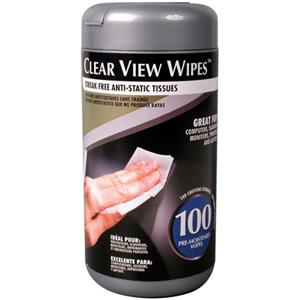 Allsop Clear View Wipes, Pack of 100: Picture 1 regular