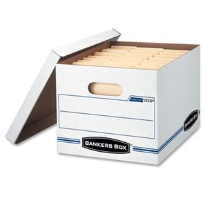 Bankers Box Stor/File Box, Letter/Legal, Lift-off Lid, 4 Per Pack: Picture 1 regular