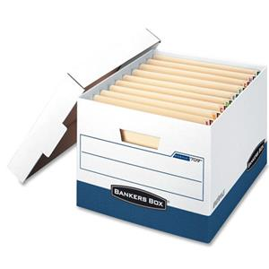 Bankers Box Stor/File Box, End Tab, Letter/Legal - Case of 12: Picture 1 regular