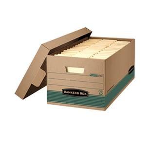 Bankers Box Recycled Stor/File Box, Legal, Lift-off Locking Lid - Pack of 12: Picture 1 regular