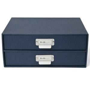 Bigso Birger Two Drawers Chest, Navy: Picture 1 regular