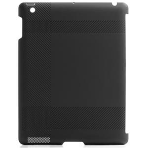 Blue Lounge iPad Shell, Tartan Texture, Black - Also Works with Smart Cover: Picture 1 regular
