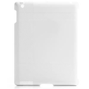 Blue Lounge iPad Shell, Tartan Texture, White: Picture 1 regular