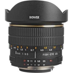 Bower 8mm f/3.5 Fisheye Manual Focus Lens SLY358N