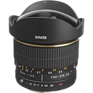 Bower 8mm f/3.5 Fisheye Manual Focus Lens SLY358P