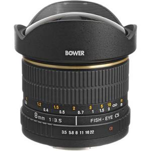 Bower 8mm f/3.5 Fisheye Manual Focus Lens SLY358S
