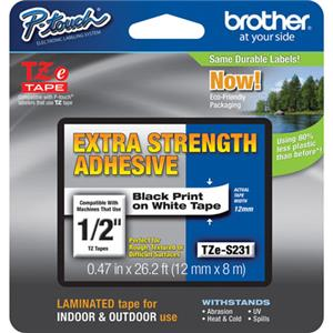 "Brother TZeS231 0.47"" Black TZE-S231"