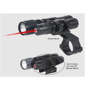 BSA Optics Stealth Tactical Red Laser Sight & 125 Lumen Flashlight STSLLCP