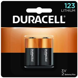 Duracell Ultra 123A Photo Lithium Battery 3volt DL123AB2