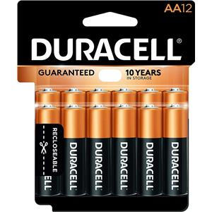 "Duracell CopperTop ""AA"" Alkaline Batteries MN15RT12"