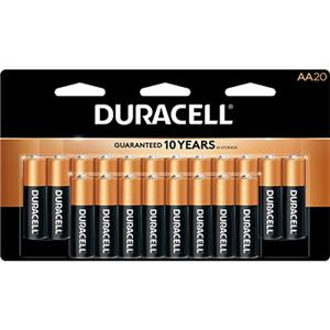 "Duracell CopperTop ""AA"" Alkaline Batteries MN1500B20"