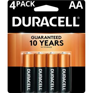"Duracell CopperTop ""AA"" Alkaline Batteries MN1500B4"