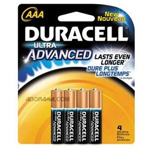 "Duracell Ultra Advanced ""AAA"" Alkaline Batteries MX2400B4"