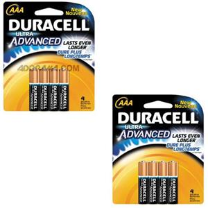 "Duracell Ultra Advanced ""AAA"" Alkaline Batteries MX2400B8"