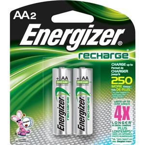 "Energizer Rechargeable 2300 mAH Nickel Metal Hydride ""AA"" Battery NH15BP2"