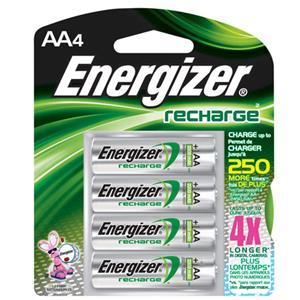 "Energizer Rechargeable 2300 mAh Nickel Metal Hydride ""AA"" Battery (4-Pack) NH15BP4"