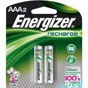 "Energizer Rechargeable 700 mAH Nickel Metal Hydride ""AAA"" Batteries (2-Pack) NH12BP2"