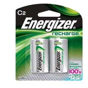 "Energizer Rechargeable 2500 mAH Nickel Metal Hydride ""C"" Batteries (2-Pack) NH35BP2"