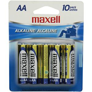 "Maxell ""AA"" 1.5v Alkaline Battery (10-Pack) 723410"