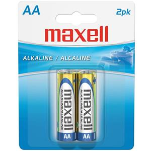 "Maxell ""AA"" 1.5v Alkaline Battery (2-Pack) 723407"