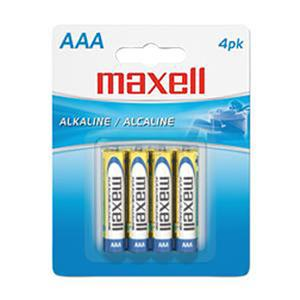 "Maxell ""AAA"" 1.5v Alkaline Battery (4-Pack) 723865"