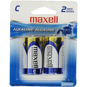 "Maxell ""C"" 1.5v Alkaline Battery (2-Pack) 723320"