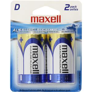 "Maxell ""D"" 1.5v Alkaline Battery (2-Pack) 723020"