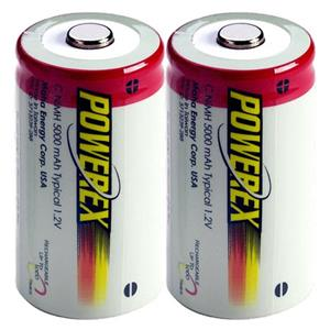 "Maha PowerEx MH-2C500 ""C"" 5000 mAh NiMH Rechargeable Batteries MH-2C500"