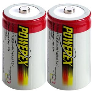 "Maha PowerEx MH-2D110 ""D"" 11000 mAh NiMH Rechargeable Batteries MH-2D110"
