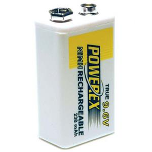 Maha PowerEx 9.6V 230mAh Rechargeable NiMH Battery MHR9V