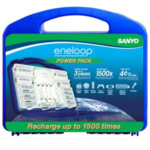 Sanyo Eneloop 1500 Cycles Power Pack Starter Kit: Picture 1 regular