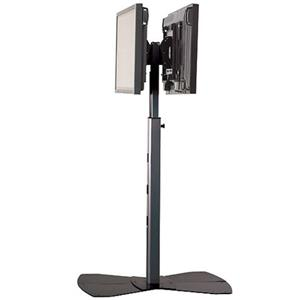 Chief PF22000 Large Flat Panel Dual Display Floor Stand without Interfaces PF22000S