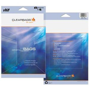 "ClearBags 6-7/16x8-1/4"" Crystal Clear RPA6X8"